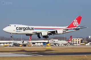 LX-VCH Cargolux Airlines International Boeing 747-8F, Maastricht Aachen Airport - EHBK/MST | by neplev1