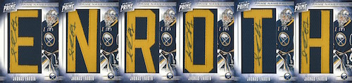 12-13 Enroth Prime Namesakes Full Nameplate letters sig size | by creasecollector
