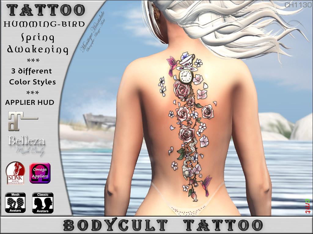 BodyCult Tattoo Colibri Art CH1130