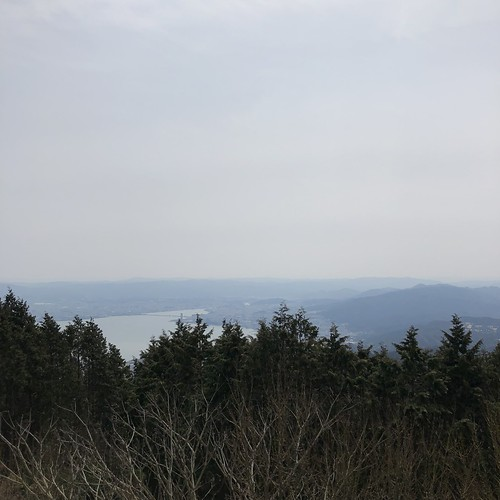 比叡山から見える琵琶湖