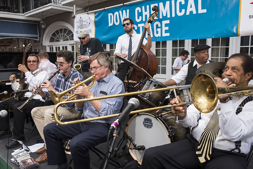 Tommy Sancton's New Orleans Legacy Band play French Quarter Fest day 3 on April 13, 2019. Photo by Ryan Hodgson-Rigsbee RHRphoto.com