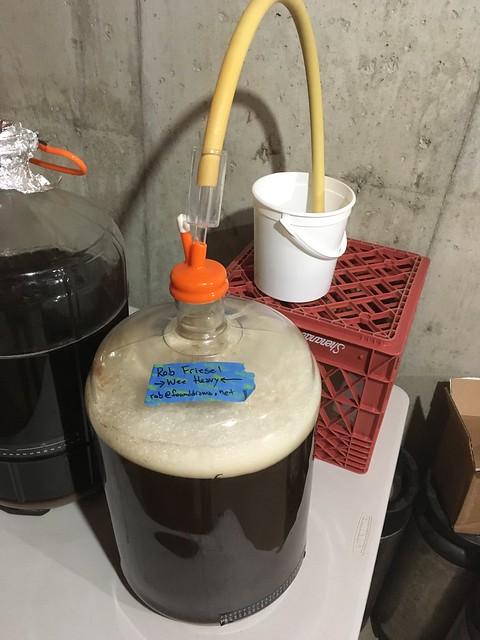 Mashers Scotch Ale, fermenting away