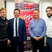Nigel Huddleston MP at Buzz Electrical with Steve Owens and former apprentices Ross and Sam flickr image-8
