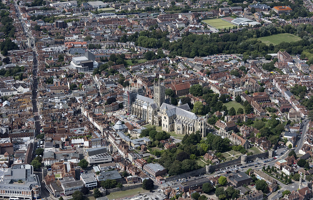 Canterbury Cathedral aerial