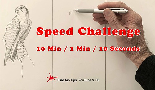 Speed Challenge - 10 Min / 1 Min / 10 Seconds | by fineart-tips