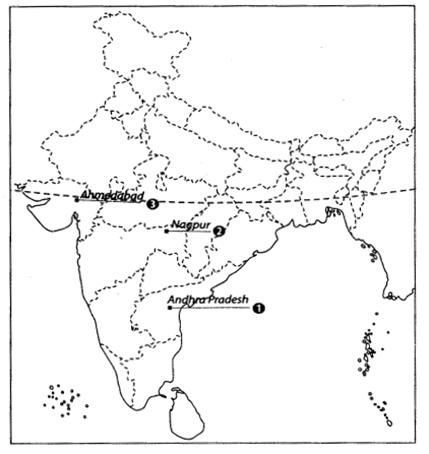 Class 10 History Map Work Chapter 3 Nationalism in India A5