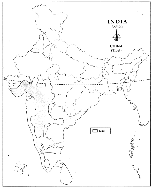 Class 10 Geography Map Work Chapter 4 Agriculture 6