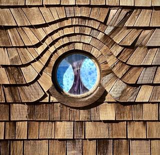 Eye window, house on Cliff Drive
