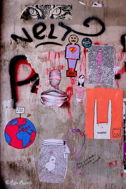 Roma. Ostiense. Street art by Alessia Babrow, Guaro, Zeta, me, Pitto Ergo Sum, C_ska, Titissima, Streetartee