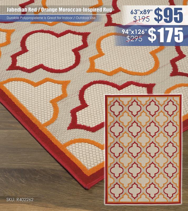 Jabediah Red Orange Moroccan Inspired Rug_R402262-1