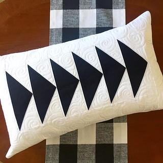 Elongated #flyinggeese pillow