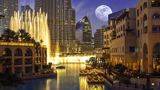 Dubai - Burj Khalifa water fountain | by mccrya