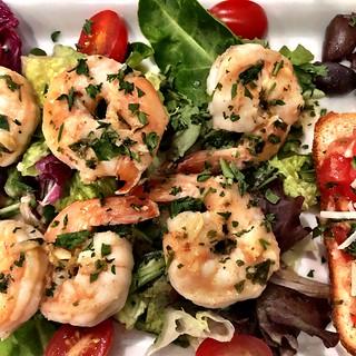 Grilled shrimp on salad   by sarahstierch