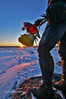 RCMP memorial winter sunrise