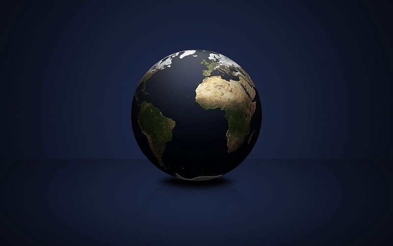 Обои шар, планета, материки, темный фон картинки на рабочий стол, фото скачать бесплатно