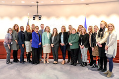 Group photo with members of the 2019 Bipartisan Women's Caucus following a press conference at the LOB on January 15, 2019.