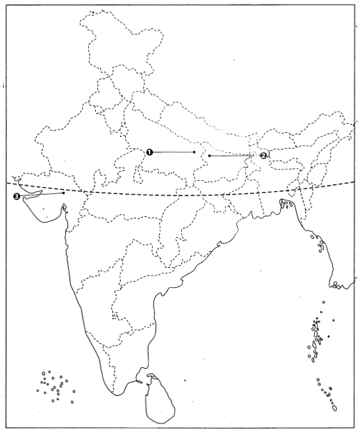Class 10 History Map Work Chapter 3 Nationalism in India Q3