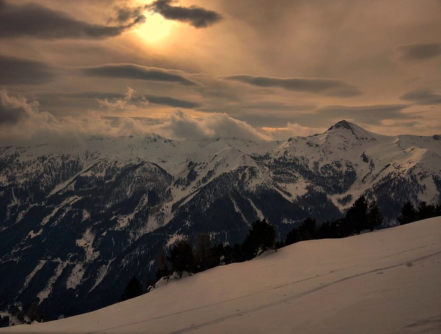 Sunset above the Alps