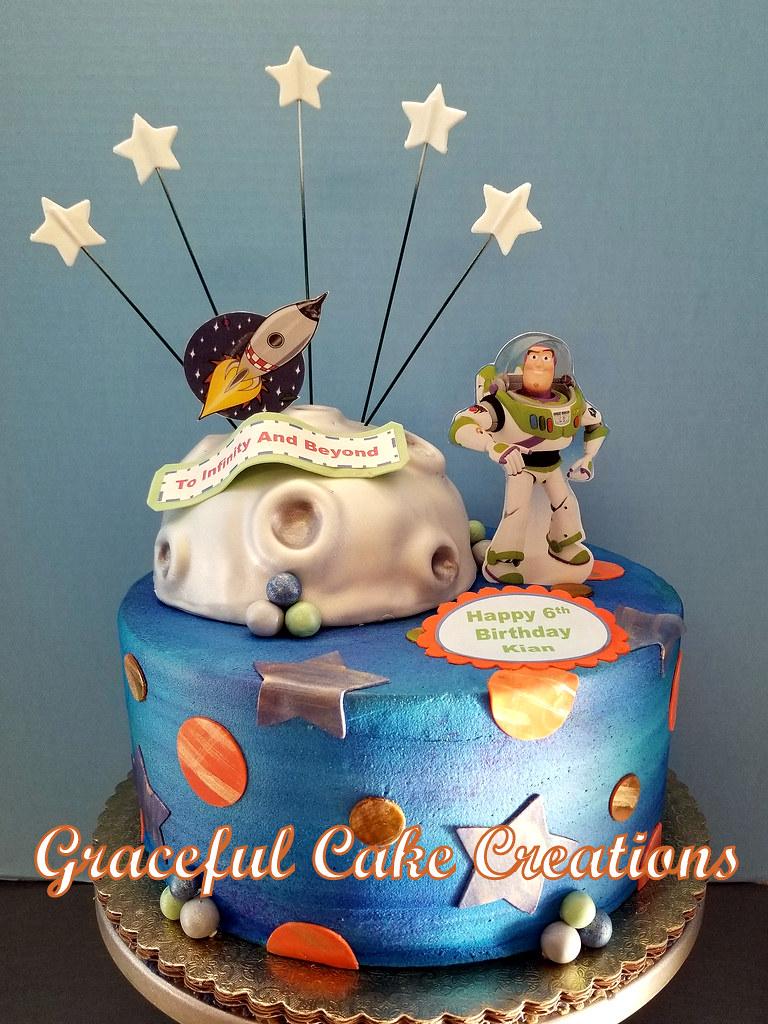 Remarkable Buzz Lightyear Birthday Cake A Photo On Flickriver Funny Birthday Cards Online Inifodamsfinfo
