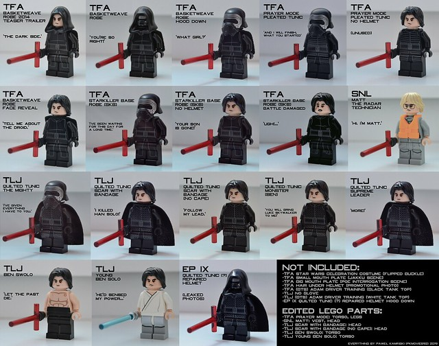 Every Kylo Ren variant in LEGO form