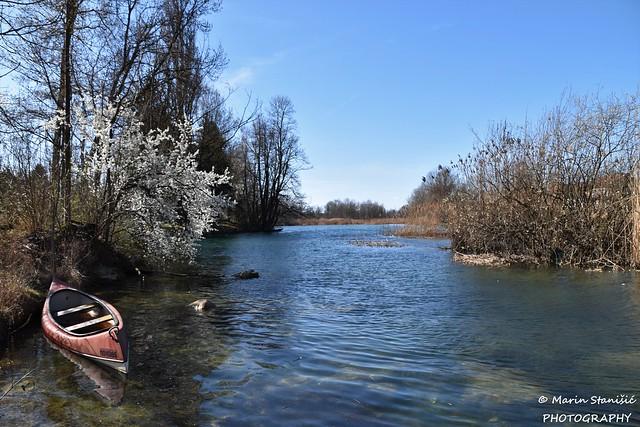 Croatia, Duga Resa, Mrežnica - Cold morning on river Mrežnica