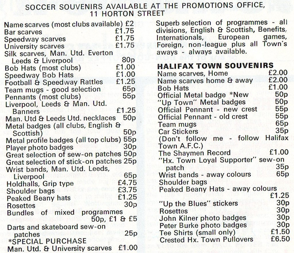 (Programme) 05-01-1980 Halifax Town 1-0 Manchester City (FAC) 5