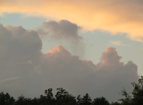 sunset bluesky colorfulclouds stokesdalenc treetopsilhouettes spring2015