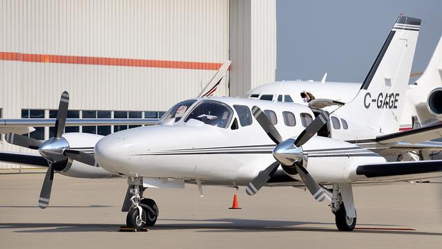 Cessna C441 Conquest II corporate turbine twin C-GAGE - Toronto Pearson.