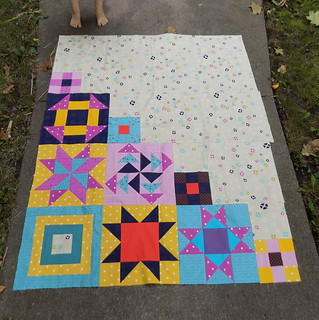 Modern Blocks  - Made with blocks from You Can Quilt!  Building Skills for Beginners
