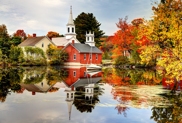 Quaint New England village