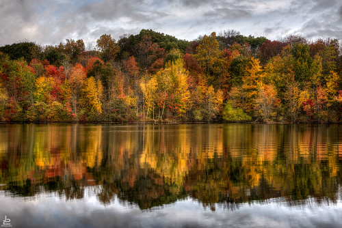 new autumn trees lake color reflection fall nature colors franklin pond colorful shoreline lakes nj reservoir foliage jersey d750 preserve hdr haledon