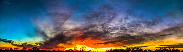 101616 - A Magical Nebraska October Sunset (Pano)