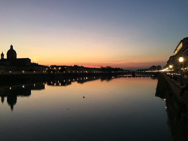 Crepuscolo sull'Arno - Twilight over the river Arno