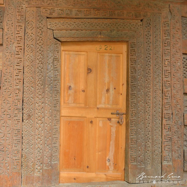 Hunza: Swatiskas on  a Ganish mosque © Bernard Grua