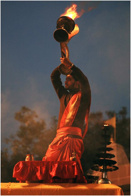 India Travel Photography: Aarti Ceremony, Nada Sadhus & burning Ghats at Varanasi 2019 Benares.001 by Hans Hendriksen
