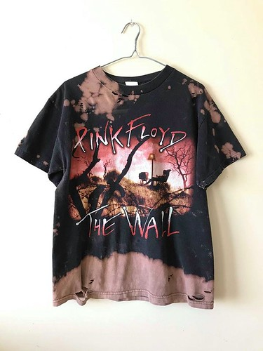 Splatter Bleached and Shredded Pink Floyd The Wall T Shirt Medium | by shopthegasstation