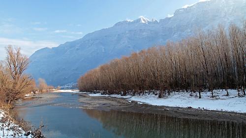 italy trentino alps venetianprealps adigevalley valleys rivers winterlandscapes