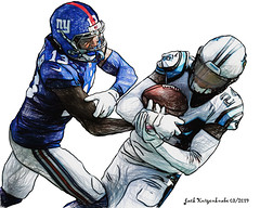 Carolina Panthers James Bradberry - New York Giants Odell Beckham