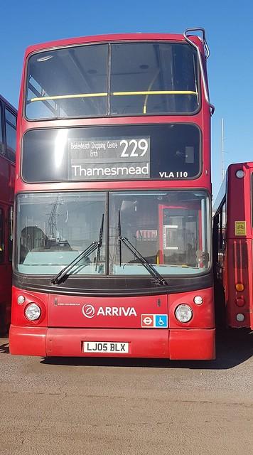 Arriva London VLA110, LJ05BLX | Edmonton Bus Garage