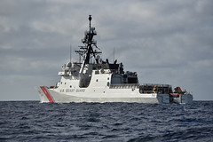 In this file photo, USCGC Berthholf (WMSL 750) operates in the Pacific in January. (U.S. Coast Guard/CPO John Masson)