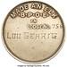 Lou Gehrig's Elks Membership Medal reverse