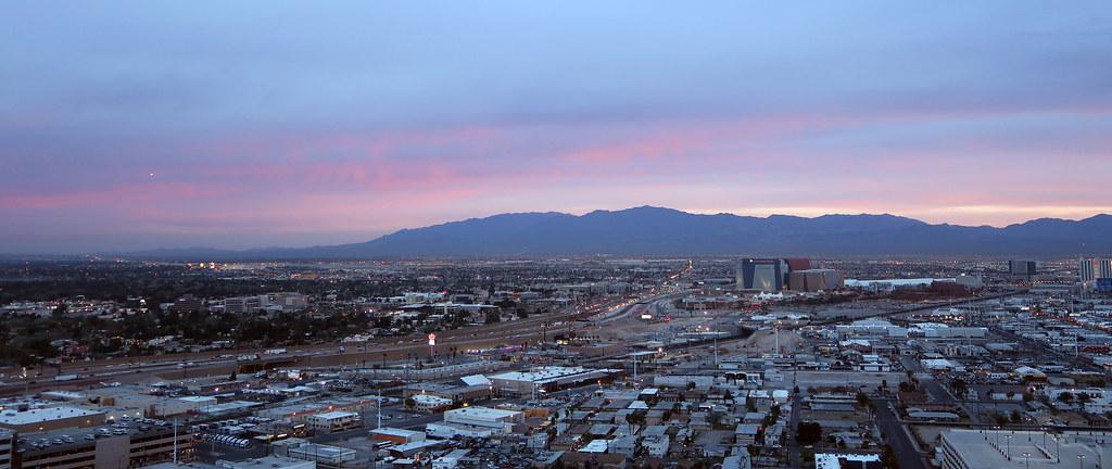 Las Vegas at twilight