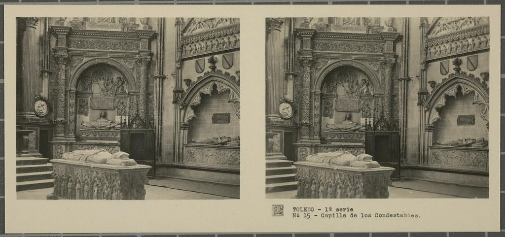 Capilla del Condestable. Colección de fotografía estereoscópica Rellev © Ajuntament de Girona / Col·lecció Museu del Cinema - Tomàs Mallol