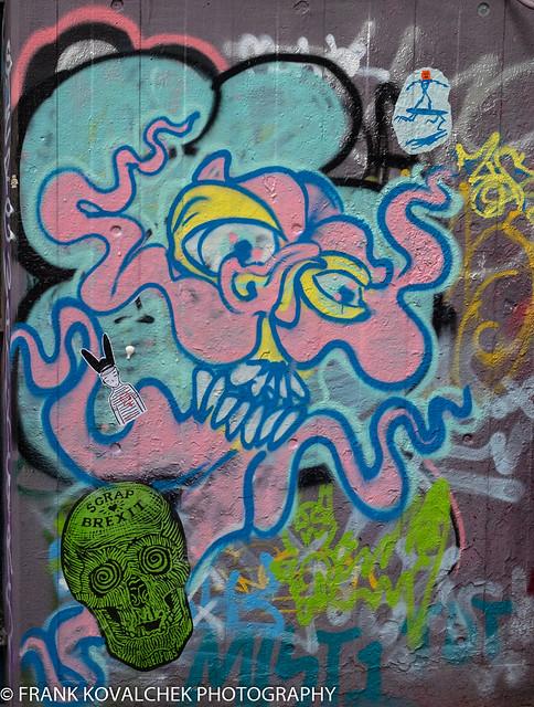 Street Art in a London Skateboard Park