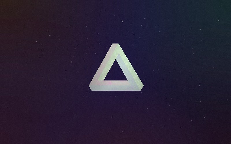 Обои треугольник, форма, свет, темный картинки на рабочий стол, фото скачать бесплатно