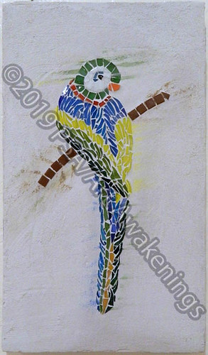 ''Happy Parrot'' by Eman, mosaic, $50.00 | by Art Awakenings