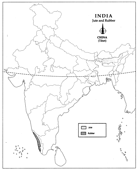 Class 10 Geography Map Work Chapter 4 Agriculture 5