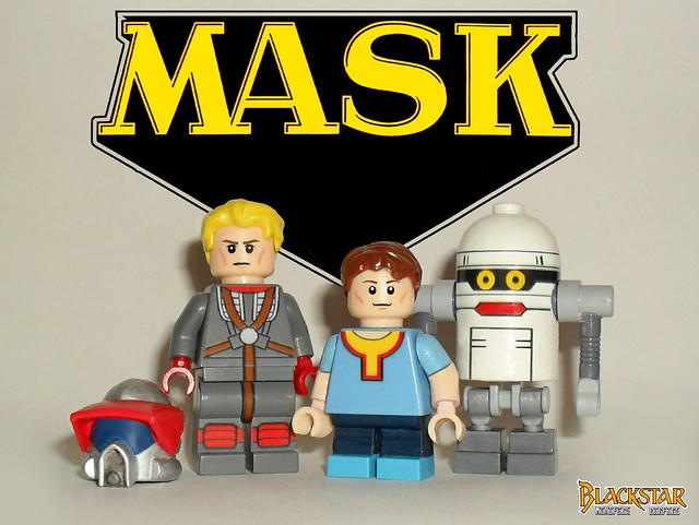 Matt and Scott Trakker + T-Bob ( Lego , MASK )