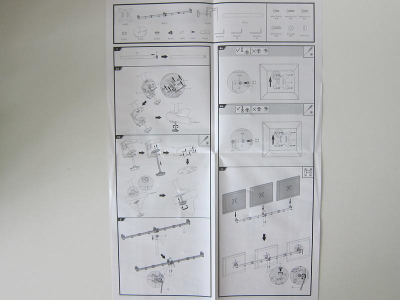 PRISM+ Vantage Triple Monitor VESA Monitor Arm - Instructions