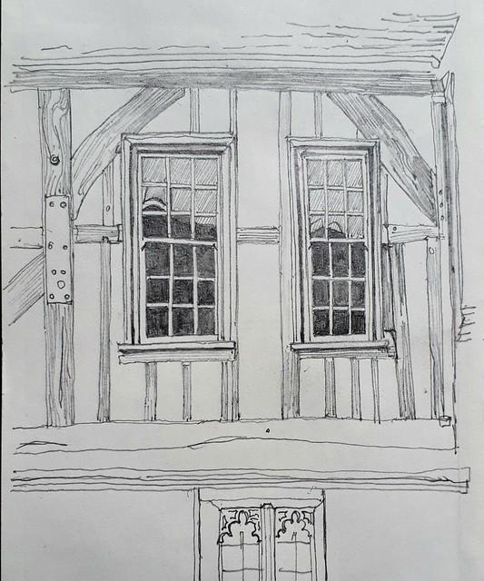 Sash windows in the hall, Merchant Adventurers Hall, York